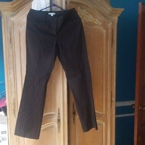 NY & COMPANY BLACK PIN STRIPED DRESS PANTS